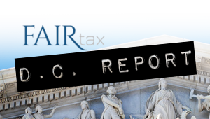 D.C. Report:  Visibility, Interest & Solidarity — the FAIRtax Lapel Pin