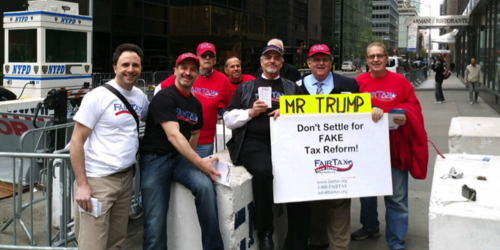 TAX DAY AT TRUMP TOWER
